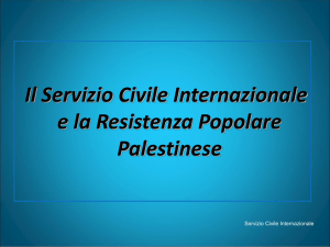 Principi dell`intervento in Palestina