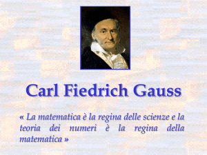 Carl Fiedrich Gauss