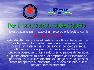 ROV Remotely Operated Vehicle - Protezione Civile Sinistra Piave