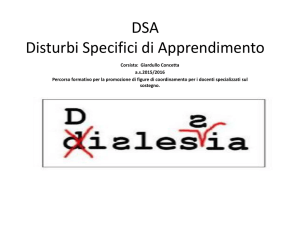 DSA Disturbi Specifici di Apprendimento