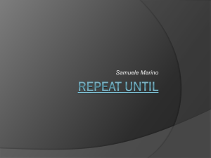 Repeat Until - Istituto Fermi Polo Montale