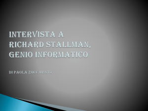 Intervista a Richard Stallman