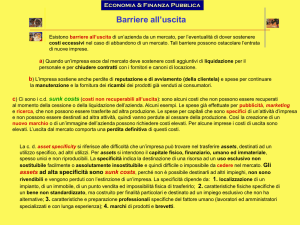 Le barriere all`uscita
