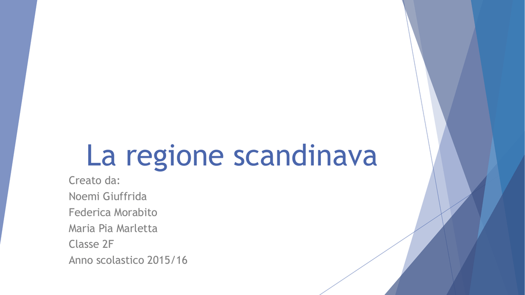 La Regione Scandinava Scuola Media Nino Martoglio Di Belpasso