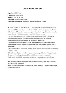 Verifica Piemonte Maestra Giovanna