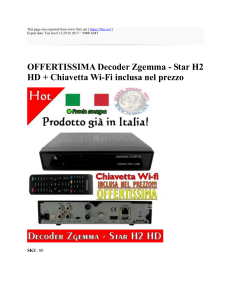 OFFERTISSIMA Decoder Zgemma - Star H2 HD +