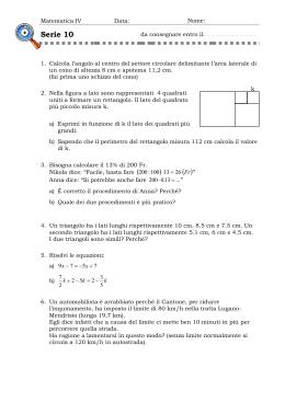 Matematica IV Data  Nome  Nome  Serie 10 da consegnare entro il 441dd368077c