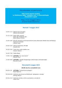 programma scientifico - Malattie Rare Toscana