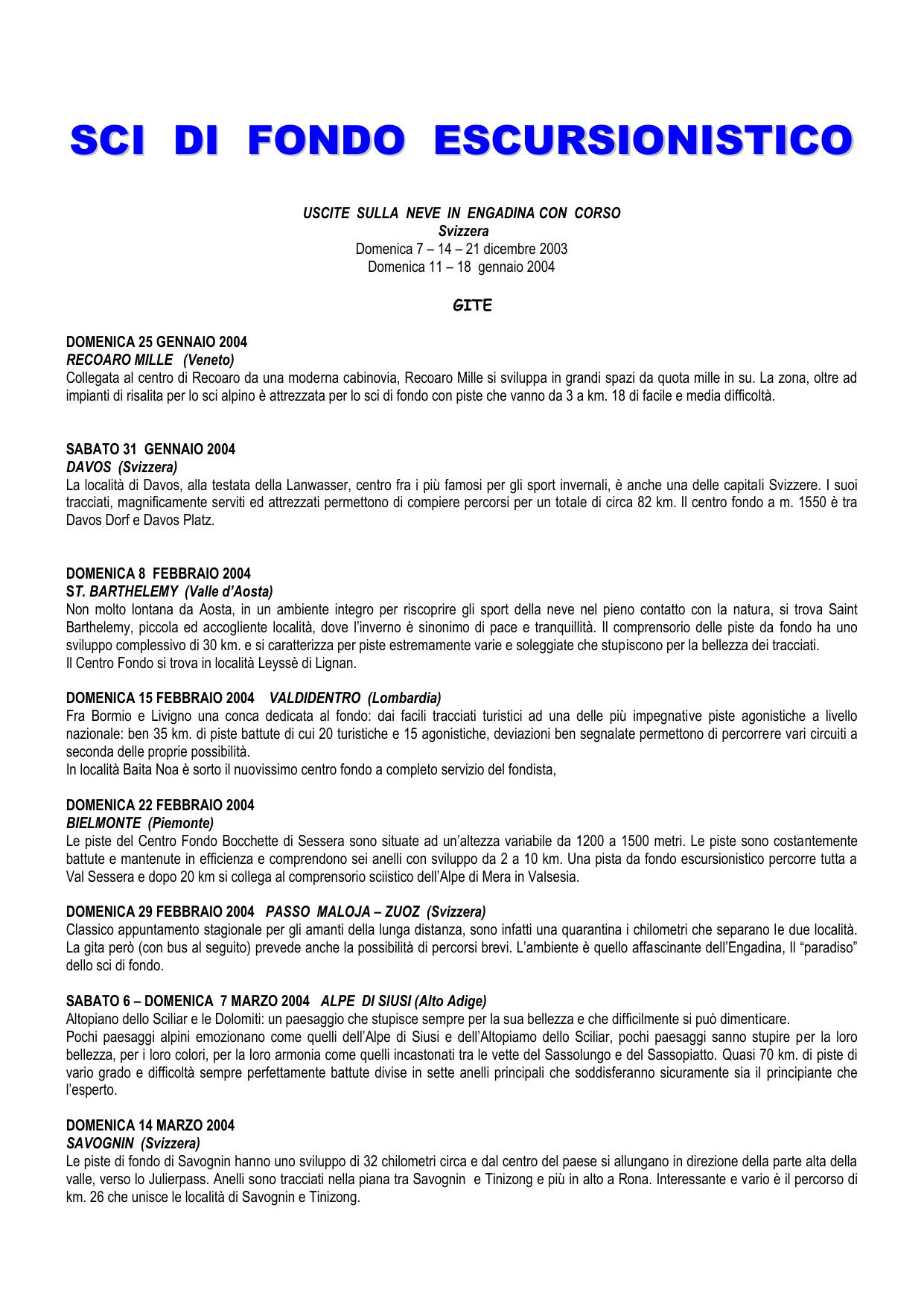 Appuntamenti consigli 20 quarantina