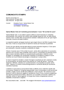 Comunicato Stampa Optical Master Club 007