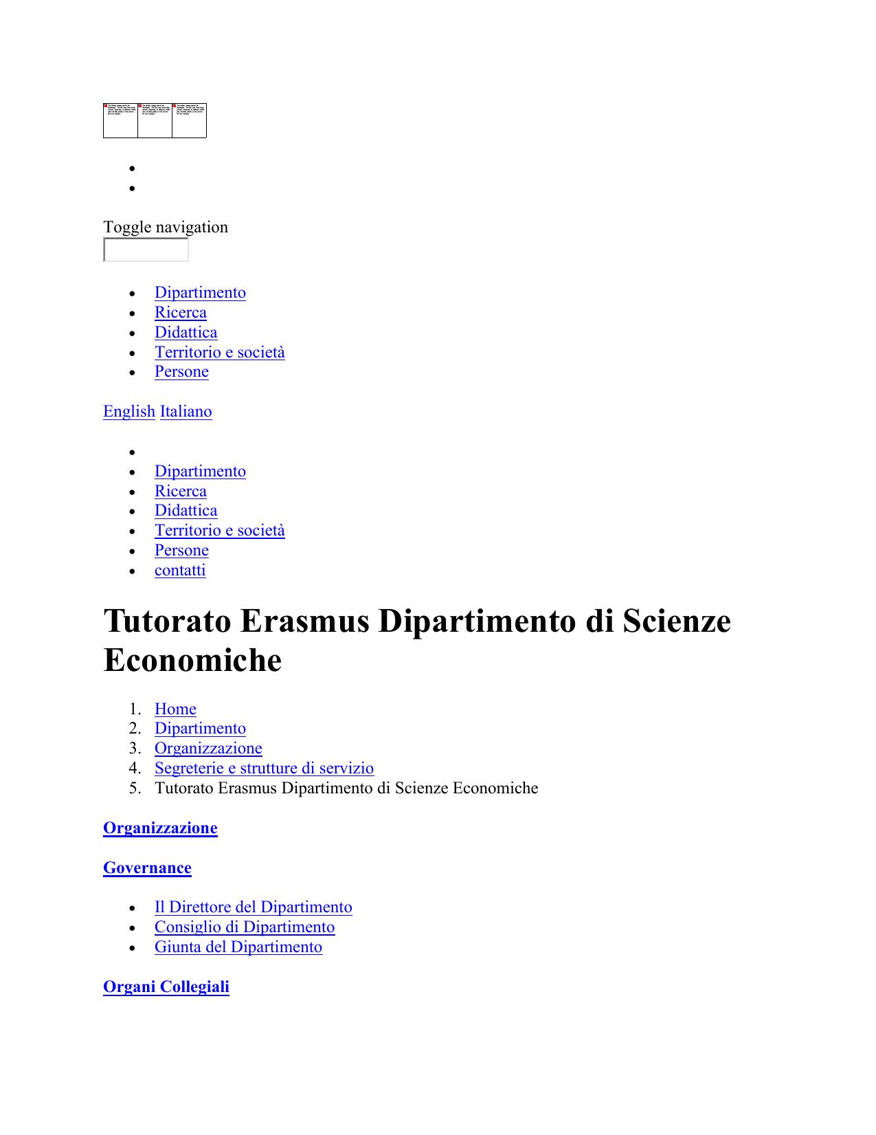 Calendario Didattico Univr Economia.Tutorato Erasmus Dipartimento Di Scienze Economiche