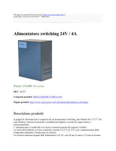 Alimentatore switching 24V / 4A : Eurosystem : http://www