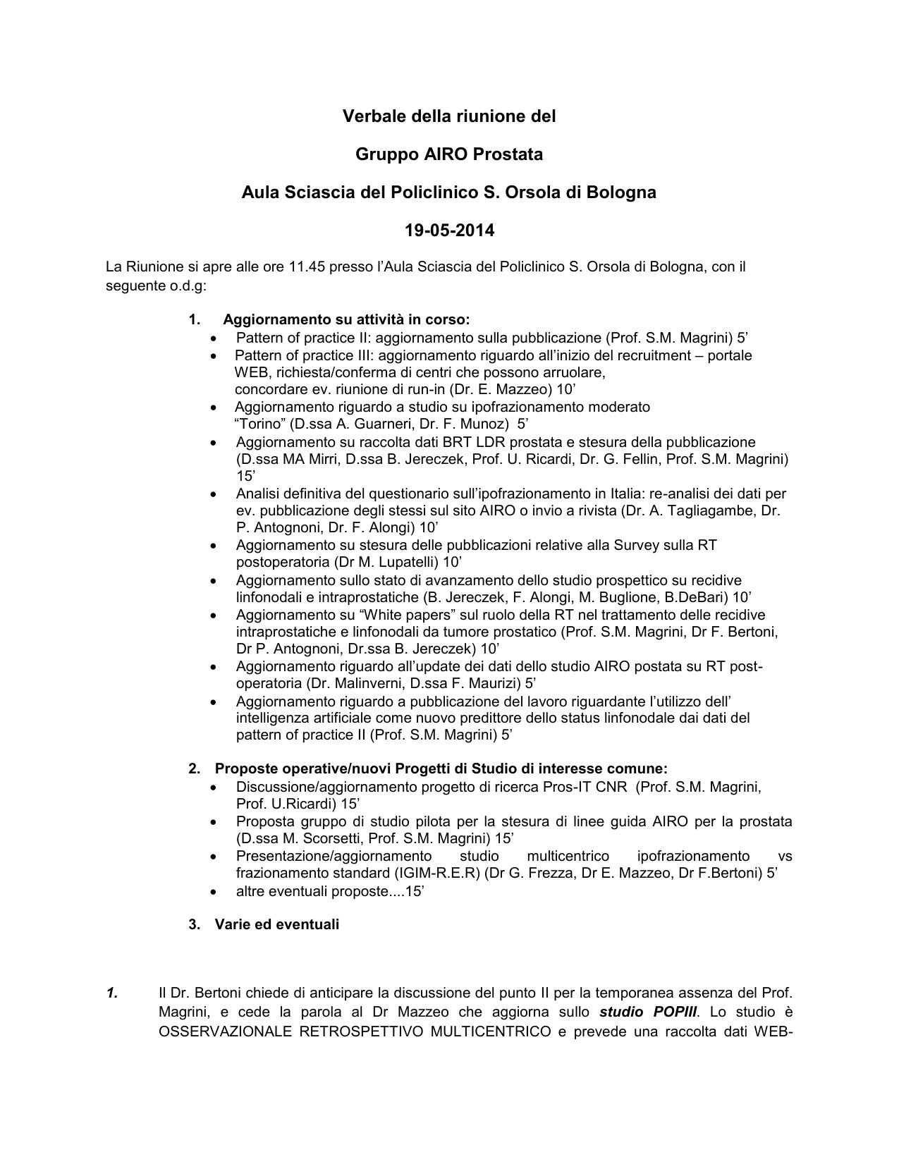 radioterapia de próstata en bellaria bolonia 2020