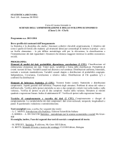 Statistica - Universita` degli Studi di Messina