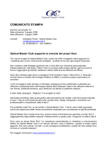 Comunicato Stampa Optical Master Club 004