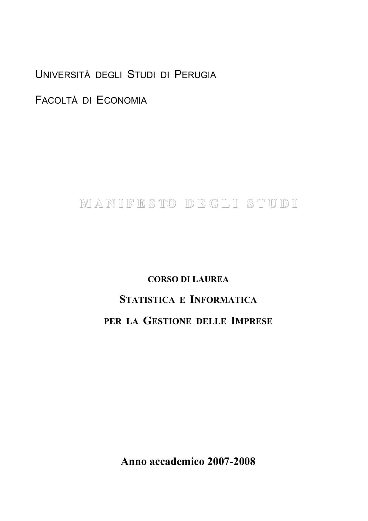 Calendario Esami Unipg Economia.Associazione Sigi Dipartimento Di Economia Finanza E