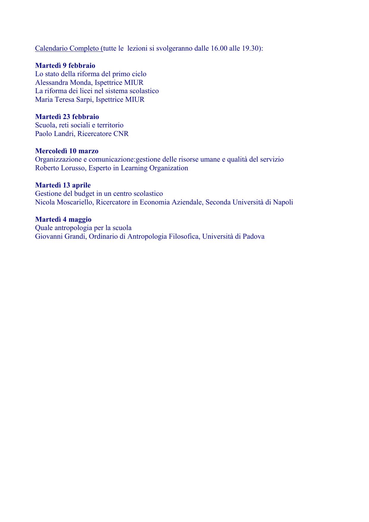 Calendario Esami Unibg Economia.Giorn Studio Programma Ipe Istituto Per Ricerche Ed Attivita