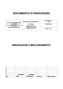 DOCUMENTO DI PROCEDURA