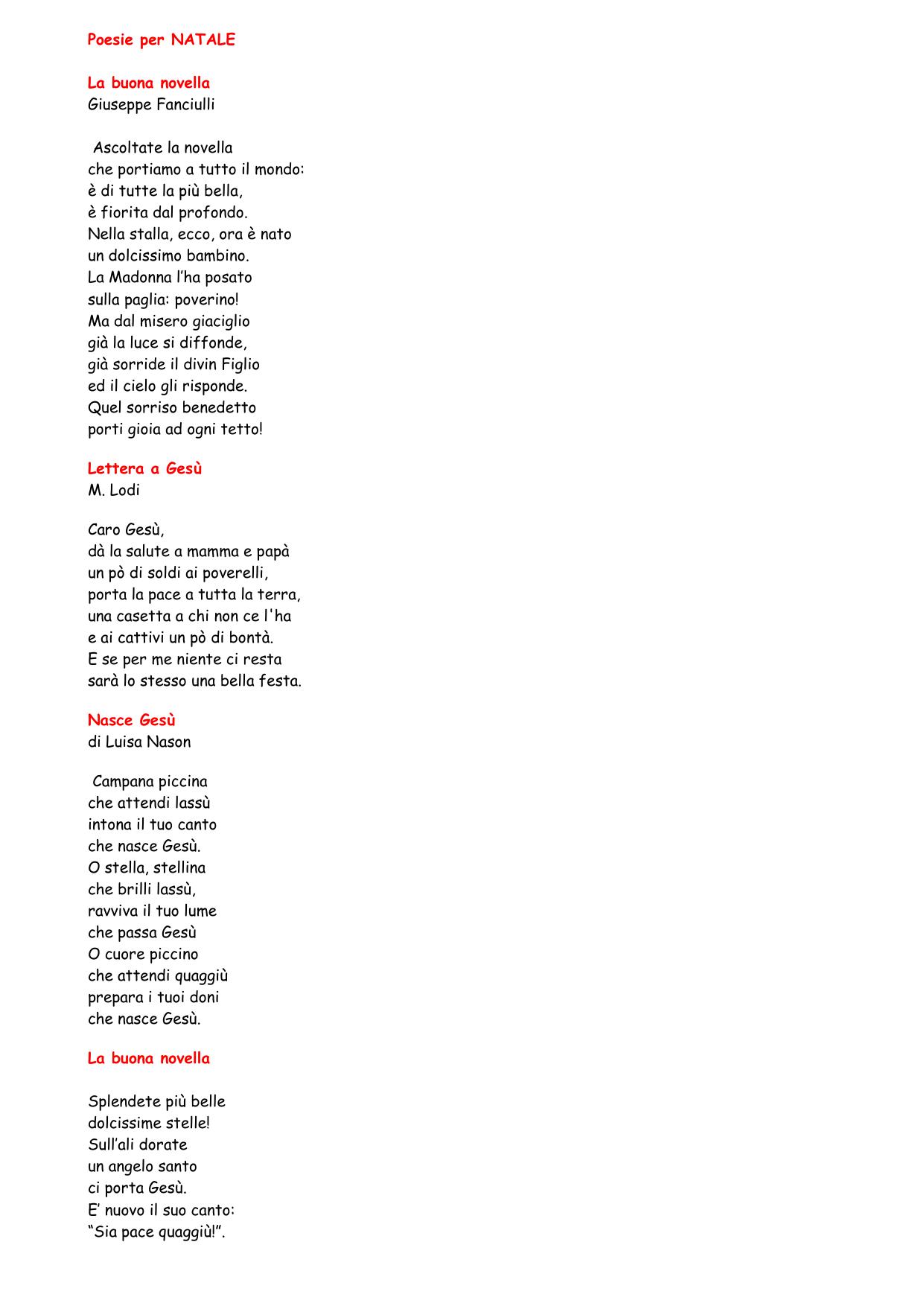 Stella Stellina Di Natale.Poesie Per Natale