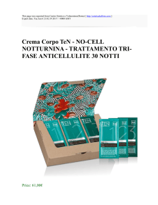 Crema Corpo TeN - NO-CELL NOTTURNINA