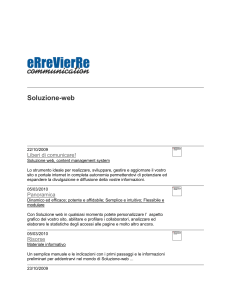 eRreVierRe communication - Soluzione-web