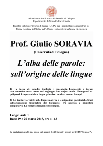 Soravia 2015 - Lauree e Lauree Magistrali