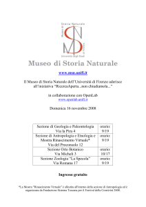 Il Museo di Storia Naturale dell`Università di Firenze aderisce all