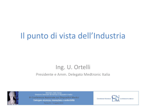 Il punto di vista dell`Industria