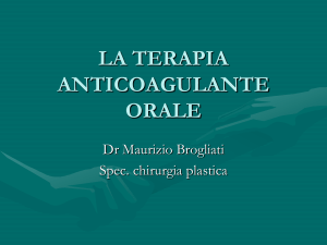 la terapia anticoagulante orale
