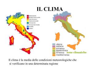 Italia Climatica Cartina.I Climi In Italia Studiamo Il Clima Per Verificare E Monitorare Il Global