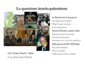 questione israelo-palestinese