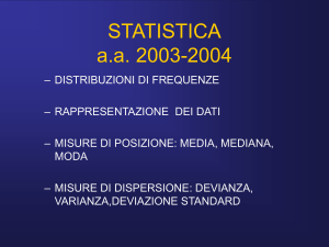 Statistica descrittiva - Home di homes.di.unimi.it