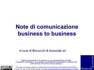 Note di comunicazione business to business