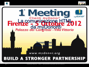 1° Meeting Clienti myDonor®