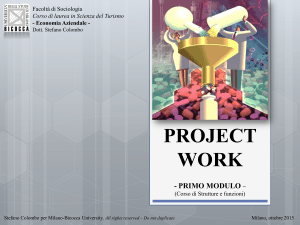 PROJECT WORK Dall`analisi imprenditoriale al business plan