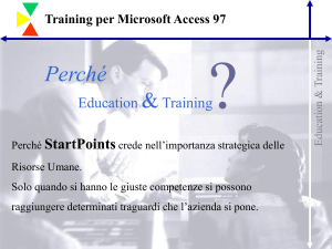 Training per Microsoft Access 97