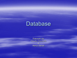 Database - INFN-LNF