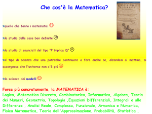 Cos`è la matematica applicata? (vnd.ms