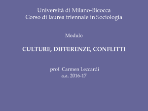 Culture differenze conflitti - Dipartimento di Sociologia e Ricerca