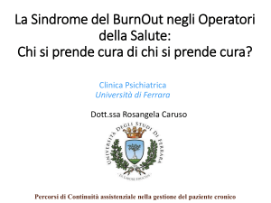 La sindrome da Burn-out