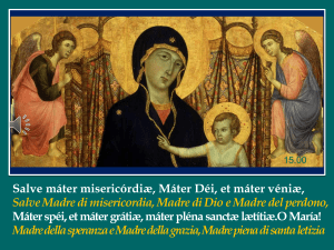Salve Madre di misericordia