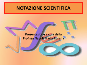 notazione scientifica - Europa Digital School