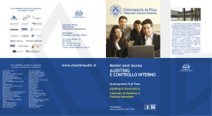 Master Auditing e Controllo Interno