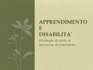 apprendimento e disabilita