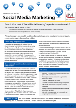 "Parte 1: Che cos`è il ""Social Media Marketing"" e perché dovreste"