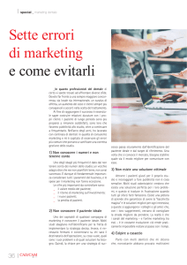 Sette errori di marketing e come evitarli