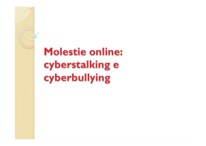 Cyber stalking-bullying