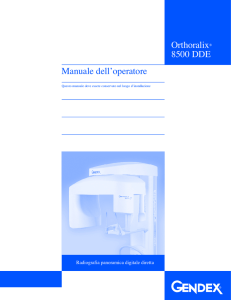 Manuale dell'operatore Orthoralix® 8500 DDE