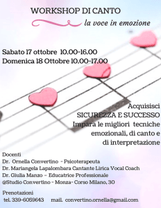workshop di canto emozionale