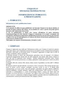 CINQUEW.IT Informazione Quotidiana On Line INFORMAZIONI SU